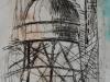 Radierung-Turm